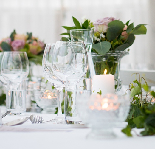 Wedding Venue Glasses On Table